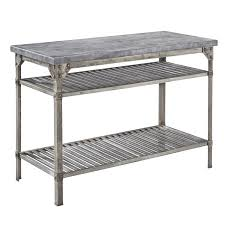 Metal Kitchen Island Tables Stainless Steel Kitchen Prep Table Fully Adjustable Bottom Shelf