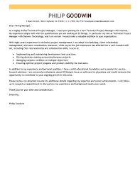 best technical project manager cover letter examples livecareer edit