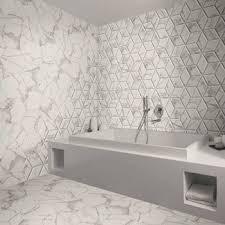 bathroom floor tile hexagon. Voronoi Marble Effect Hexagon Tiles Bathroom Floor Tile