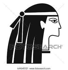 エジプト人 女の子 アイコン 単純である スタイル クリップアート