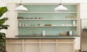 Blue Green Kitchen Cabinets Kitchen Design Kitchen Backsplash Glass Tile Ideas Soft Green