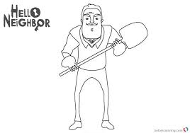 Hello Neighbor Coloring Pages Free Printable Coloring Pages