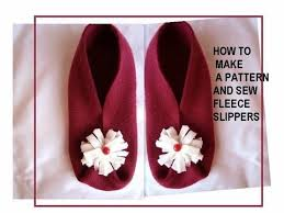 How to make a pattern, and sew fleece slippers, sewing for ... & How to make a pattern, and sew fleece slippers, sewing for beginners Adamdwight.com