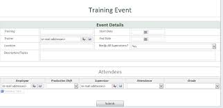 Attendance List Form Create List Entries With Form Library Fields Infopath Dev