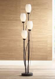 Tulip 4 Light Floor Lamp Black Metal And White Glass Tulip 4 Light Floor Lamp U2560