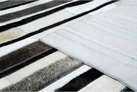 striped black gray and white leather area rug design no 269 12x16ft