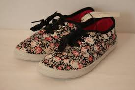 Size 1 Girl Shoes Chart Details About New Girls Tennis Shoes Size 1 Floral Casual Sneakers Canvas Roses Lace Up Flats
