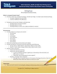 Writing Essays The Compare Contrast Essay Pages 1 3