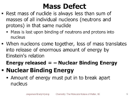 mass defect nuclear binding energy