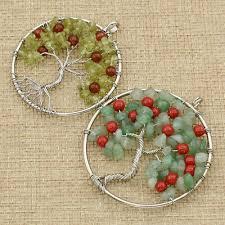 uni diy tree of life pendant green