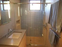 glass sliding shower doors frameless. Bathroom Design And Decoration Using Light Blue Glass Tile Walls Including Steel Framed Sliding Shower Doors Frameless S