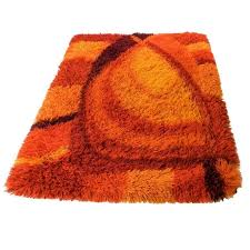 burnt orange bathroom rug sets 1stdibs vibrant burnt orange and rust rya rug rya 768