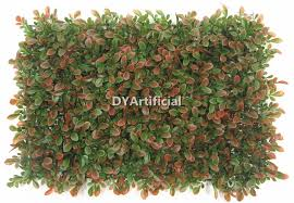 brown red artificial grass wall panel