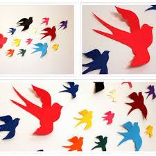 3d paper birds multicolored paper birds 3d bird wall art bird wa