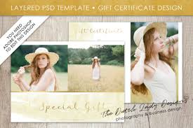 Photography Gift Certificate Template Photography Gift Certificate Template Photo Gift Card Watercolor