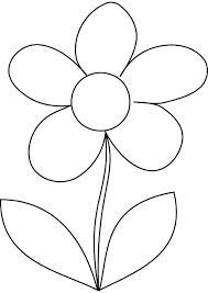 Spring Flower Coloring Pages For Toddlers Flower Coloring Pages For