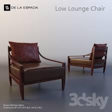 Matthew hilton lounge chair Balzac De La Espada Low Lounge Chair 3d Models Arm Chair De La Espada Low Lounge Chair