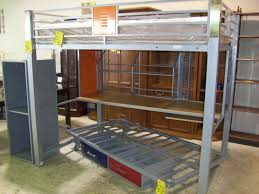 metal bunk bed with desk. Perfect Bunk BedroomDhp Furniture Twin Metal Loft With Desk Astounding Double  Underneath Full Canada And Stairs Bunk Bed
