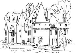 Coloriage Chateau Fort Et Chevalier Download Coloriage En Ligne