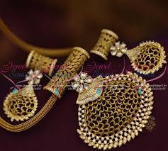 ps8820 fusion designer jewellery white pendant set chain antique gold imitation collections