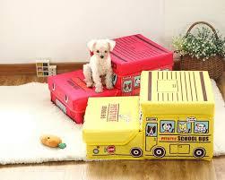 cheap pet furniture. 15PT10 Pet Furniture Cute Cartoon School Bus Stairs Folded Storage Box Folding 2- Cheap P