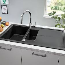 Image Kraus Victorian Plumbing Grohe K400 15 Bowl Composite Kitchen Sink With Drainer Granite Black 31642ap0