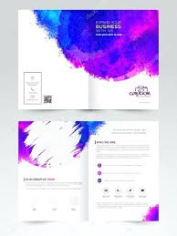 Two Page Brochure Template Two Page Brochure Template Colorful Splash Decorated Professional Or