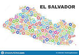EL Salvador Map Del Mosaico De Los Elementos De Engranaje Ilustración del  Vector - Ilustración de plano, dispersado: 143057530