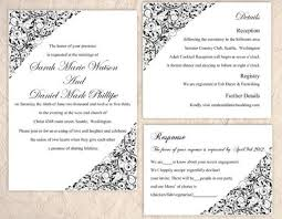 Invitations In Word Template Diy Wedding Invitation Template Set Editable Word File Instant