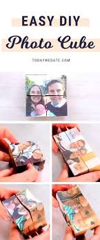 diy photo cube a diffe memory every time you flip 18 sweet diy gift