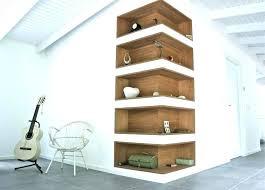 wall shelves home desirable decornation zigzag corner wall mount shelf unit walnut