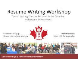 Resume Writing Workshop Ppt Video Online Download