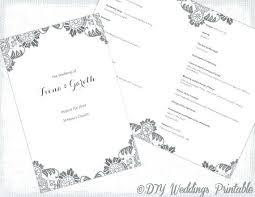 Catholic Wedding Mass Program Wedding Booklet Template Majeste Info