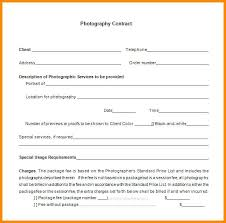 Printable Contract Template Free Photography Contracts Templates