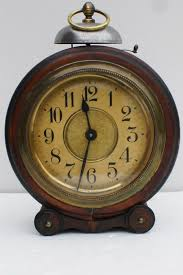 papier maché alarm clock with bell on top period approx 1900