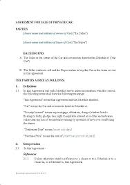 Used Car Sale Agreement Template Vehicle Payment Contract Template Beautiful Sales Agreement