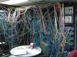 17 best images about wiring disasters cable it must be hard to enjoy your lunch break that view of spaghetti