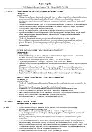 Resume Purchasing Procurement Management Resume Samples Velvet Jobs