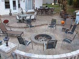 concrete patio with fire pit. Fire Pits Concrete Patio With Pit O