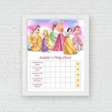 Princess Potty Chart Printable Disney Princess Potty Training Chart Princess Potty Chart Disney Potty Training Tracker Girls Potty Training Chart Potty Chart