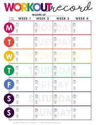 Workout Record Fitness Tracker Fitness Planner Easy