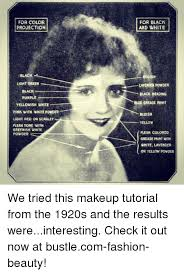 fashion makeup and memes for color projection black white ish