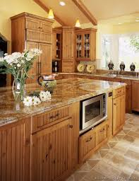 knotty wood kitchen cabinets elegant country kitchen design and decorating ideas