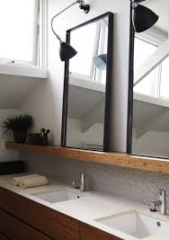 Backsplash Bathroom Ideas Enchanting Overhead Wallmounted Task Lamps Are Directed To Shine Into The