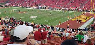 Usc Coliseum Seating Chart Los Angeles Memorial Coliseum Section 19h Home Of Usc