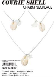 cowrie shell charm necklace 31830 hover to zoom