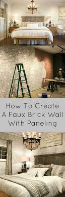 Faux Exposed Brick Sawdust2stitches How To Create A Realistic Faux Brick Wall Out Of