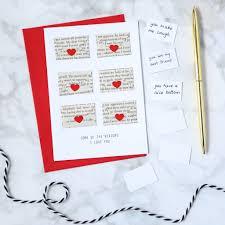 six love note mini envelope valentine s card
