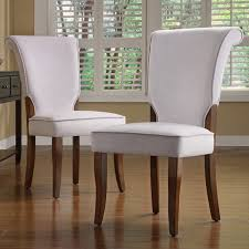 fabric parsons chairs andorra grey velvet upholstered dining chair set of 2 by inspire q