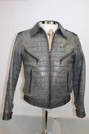 grey alligator men s jacket at rafaello